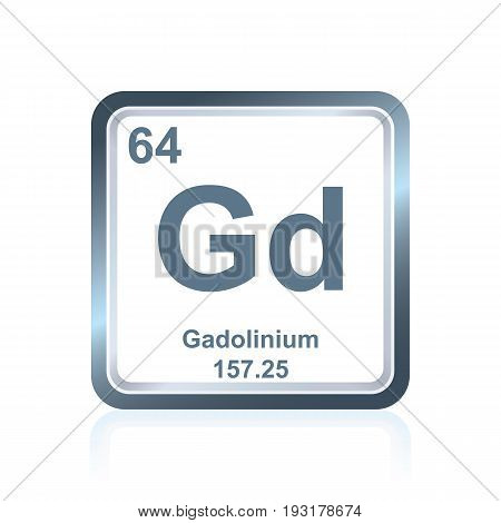 Chemical Element Gadolinium From The Periodic Table