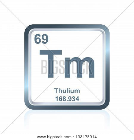 Chemical Element Thulium From The Periodic Table