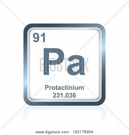 Chemical Element Protactinium From The Periodic Table
