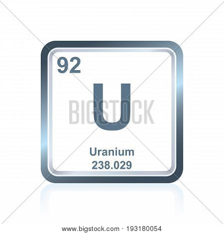 Chemical Element Uranium From The Periodic Table
