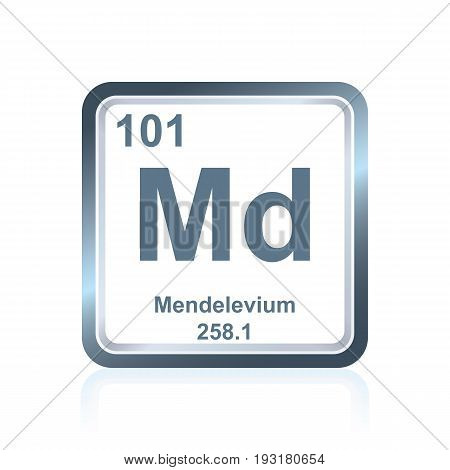 Chemical Element Mendelevium From The Periodic Table