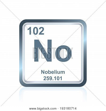 Chemical Element Nobelium From The Periodic Table