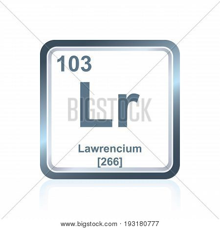 Chemical Element Lawrencium From The Periodic Table