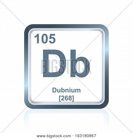 Chemical Element Dubnium From The Periodic Table