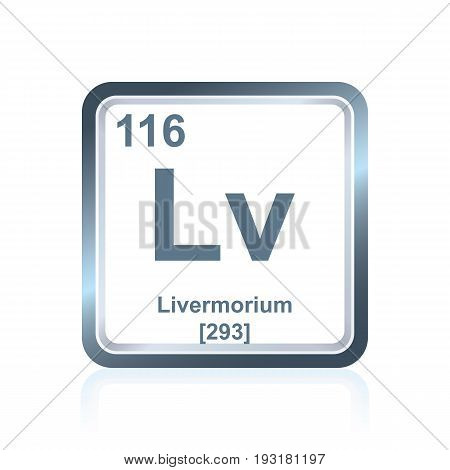 Chemical Element Livermorium From The Periodic Table