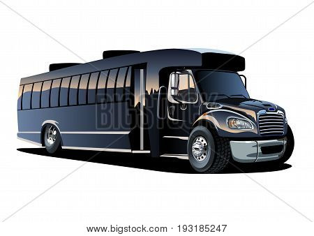 Cartoon shuttle bus. Available EPS-10 vector format separated by groups and layers