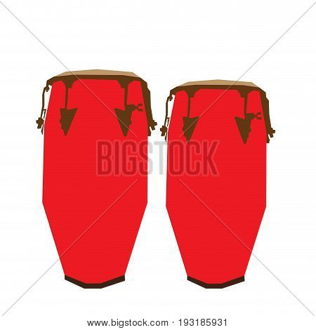 Isolated pair of geometric conga drums, Vector illustration