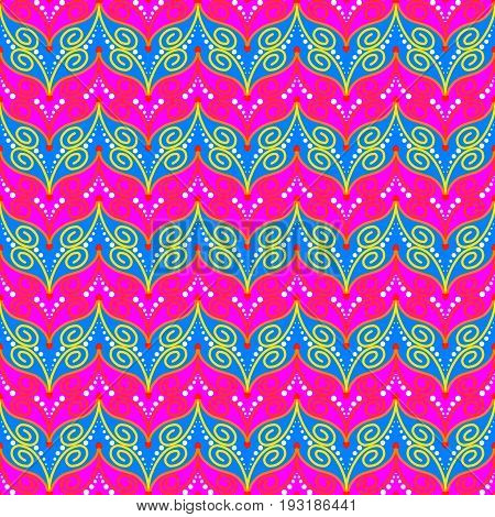 Butterfly On Pink And Blue Seamless Patterns