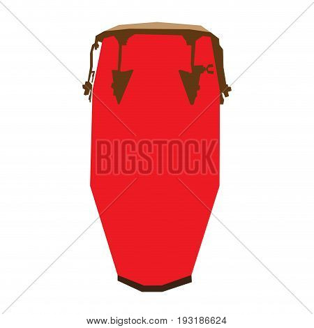 Isolated geometric conga drum on a white background, Vector illustration