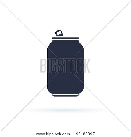 Soda Can Vector Icon. Soda Can Icon Isolated On Background. Modern Flat Pictogram, Business, Marketi