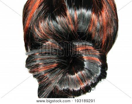 highlight hair cluster texture abstract background fashion style
