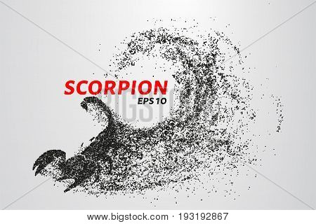 Scorpio Of The Particles. Scorpio Consists Of Circles And Points. Vector Illustration