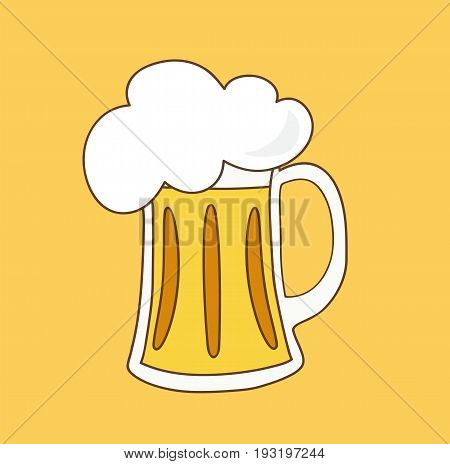 Beer icon. Glass with beer isolated on background. Vector stock.