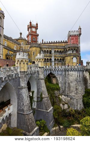 Pena National Palace In Sintra, Lisbon, Portugal