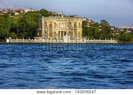 Dolmabahce Palace sea vuew in Istanbul, Turkey.