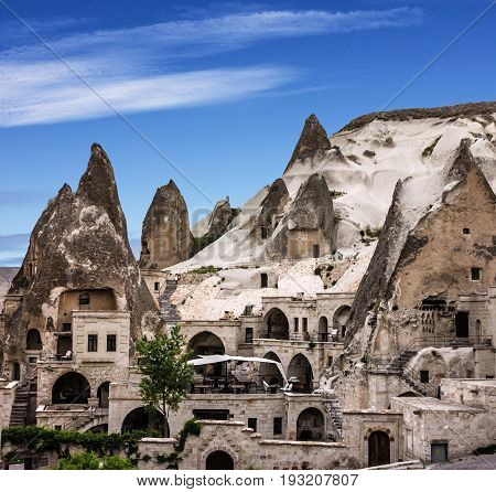 Cappadocia, Anatolia, Turkey. Open air museum rock landscape