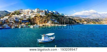 Picturesque village Agia Galini in Crete island. Greece