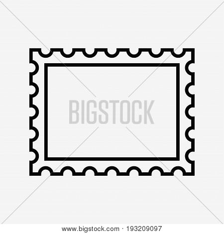 postage stamp icon on white background. vector illustration