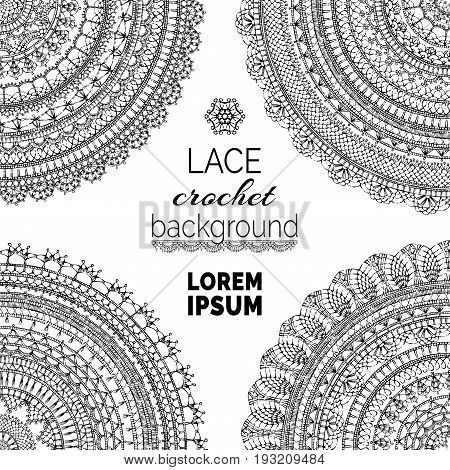 Vector Lace Crochet Background.