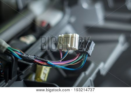 Automotive Connector Colored Wires