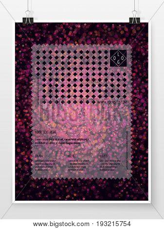 Poster Design Banner Template Business Concept Bokeh Sparkles 3