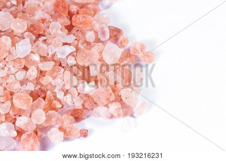Himalayan Pink Salt On White