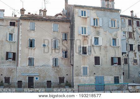 Coastal old town city. Rovinj Istria Croatia