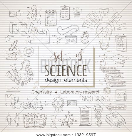 Vector Set Of Science Design Elements And Icons.
