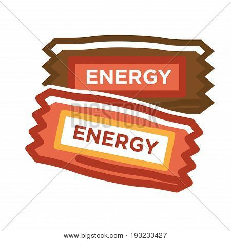 Vector illustration of two different colored energy bars isolated on white.