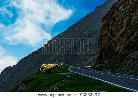 Road On The Edge Of Mountain Slope