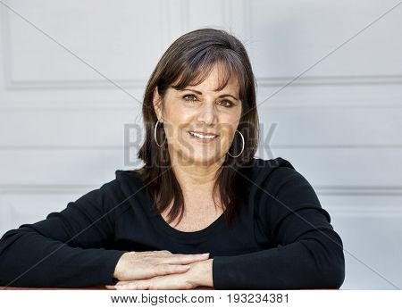 Middle Aged Woman Smiling At Camera