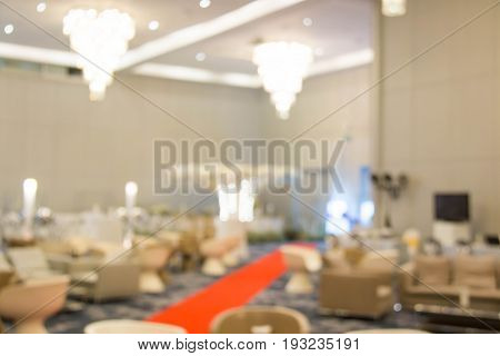 A Blur of catering setup at wedding reception