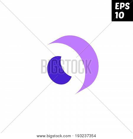 Initial letter O lowercase logo design template block violet purple