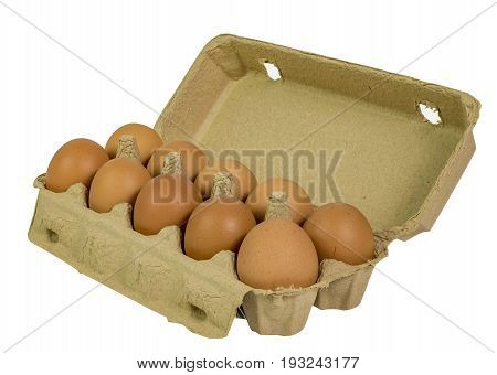 Pack of organic egg in beautiful packing.