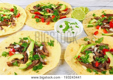 Grilled Beef Tongue Served In Tacos