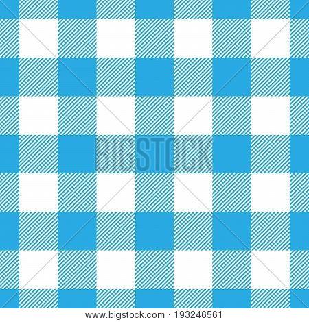 Lumberjack plaid pattern in blue and black. Seamless vector pattern. Simple vintage textile design.