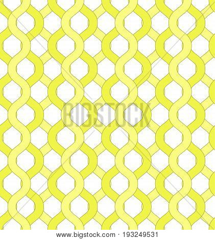 Isolated yellow net and chain seamless pattern. Yellow grid pattern to hide object visible through it for covers backgrounds banners textile wallpapers