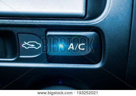 Car AC air conditioner button control button unit front panel closeup