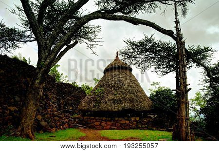 Traditional Konso tribe village in Karat Konso , Ethiopia