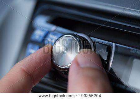 Car audio volume control button unit front panel.