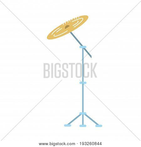 cymbal musical instrument to play music vector illustration