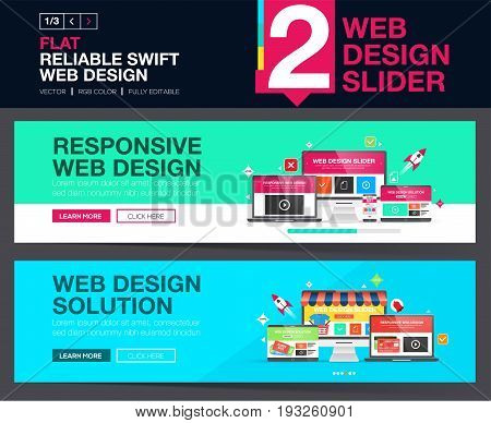 Web slider or banners design concepts for your Website.