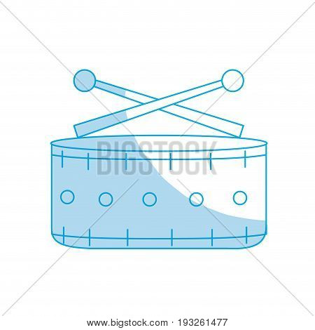 silhouette snare drum musical instrument to play music vector illustration