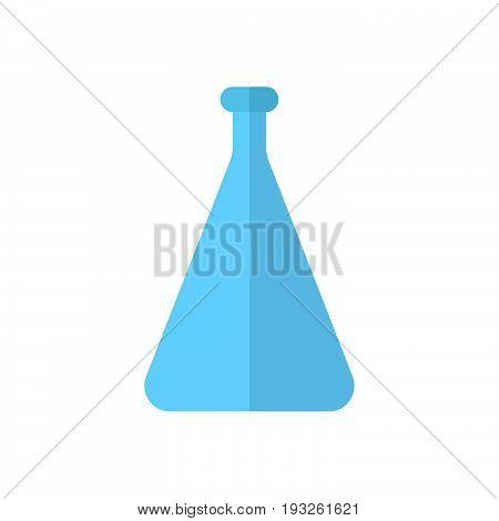 Flask beaker flat icon filled vector sign colorful pictogram isolated on white. Symbol logo illustration. Flat style design