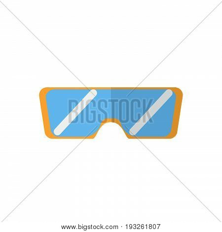 Safety glasses flat icon filled vector sign colorful pictogram isolated on white. Protective goggles symbol logo illustration. Flat style design