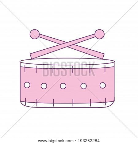 snare drum musical instrument to play music vector illustration