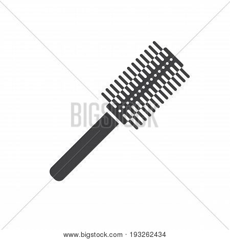 Hair brush glyph icon. Silhouette symbol. Negative space. Vector isolated illustration