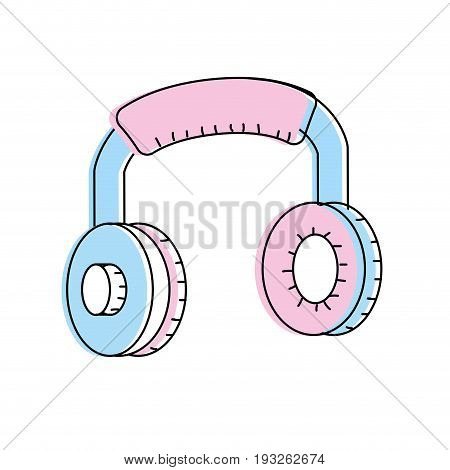 headphones to listen and play music vector illustration