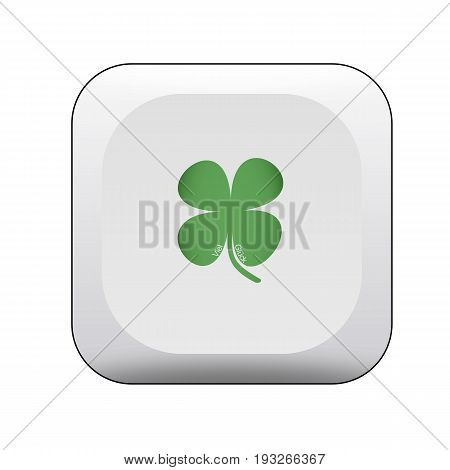 Switch with clover leaf and the german words for good luck