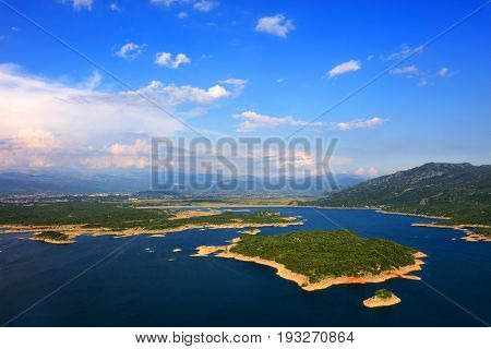 Slansko Jezero lake in Montenegro, Europe